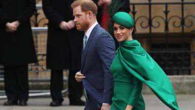 Prince Harry and Meghan Markle at the 2020 Commonwealth Day Service