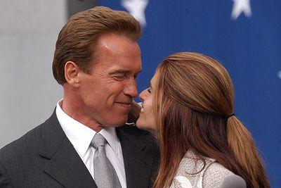 Arnold Schwarzenegger and Maria Shriver<br />