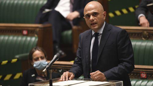 Britain's Health Secretary Sajid Javid