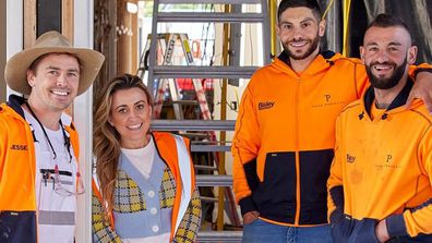 The Block 2021, Kirsty and Jesse and their builders