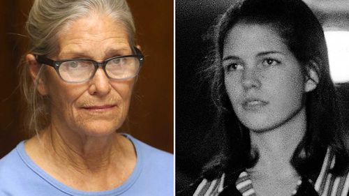 Leslie Van Houten earlier this year, and in 1969. (AAP)