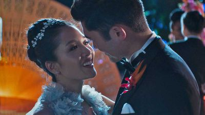 Nick and Rachel in Crazy Rich Asians