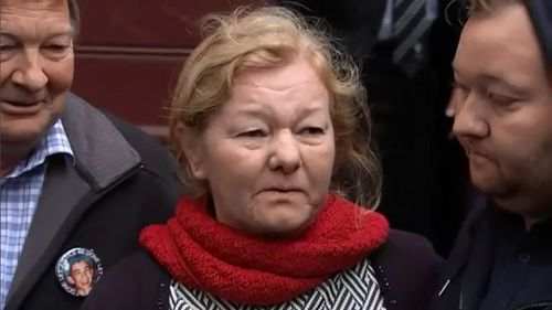 Outside court today, Ricky Balcombe's mother, Christine Loader, said she was pleased about the verdict and the delivery of justice after 23 years. Picture: 9NEWS.