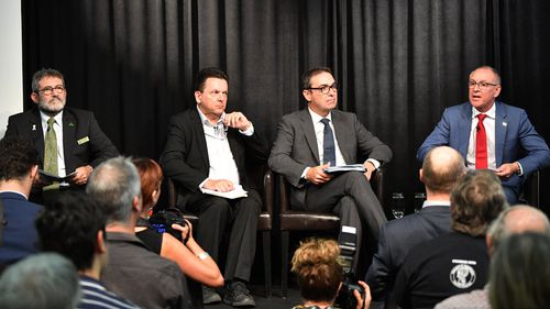 Mr Weatherill also took part in a multi-party environment debate last night (AAP).