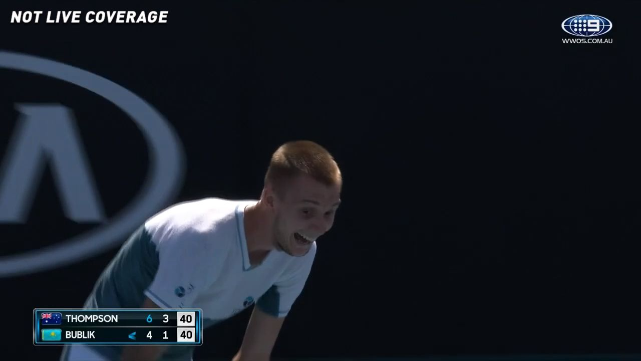 Australia's Jordan Thompson has last laugh in straight sets win following opponent's attempt to humiliate umpire after howler