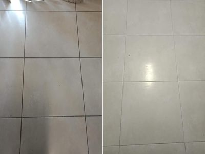 Grout - before & after