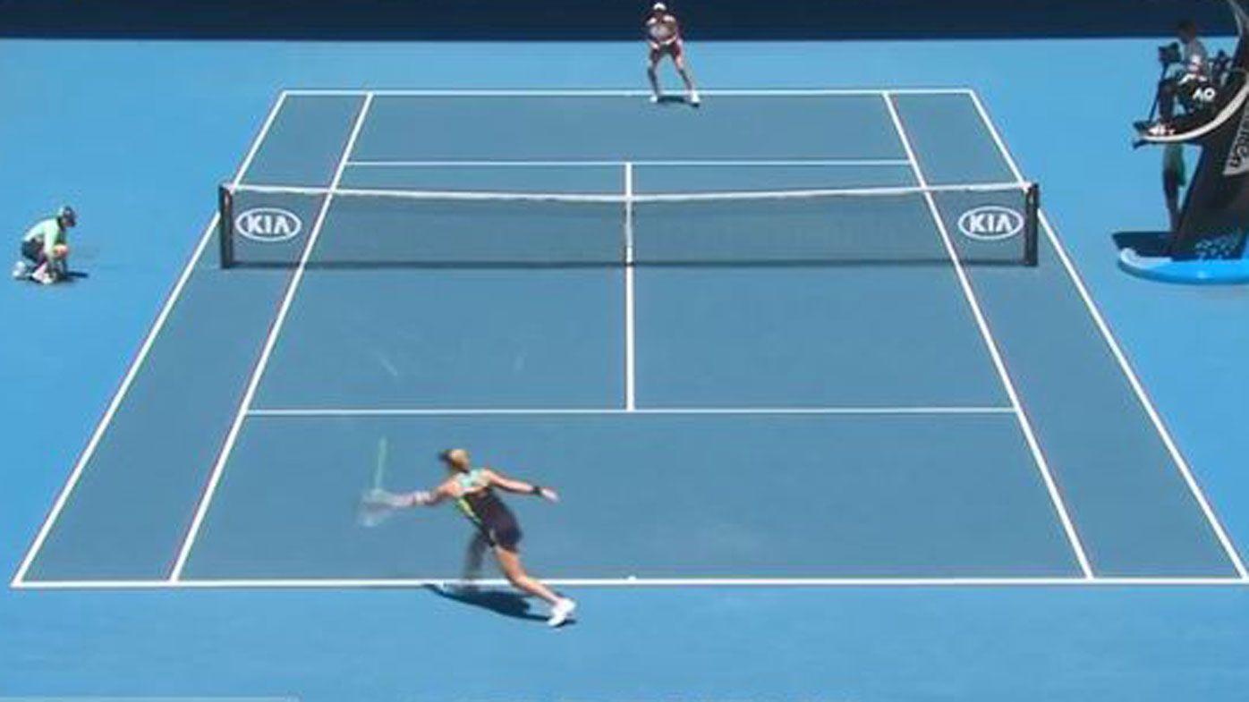 Pavlyuchenkova showcases freakish ability with wild move mid-rally