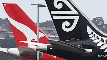 Qantas and Air New Zealand jet tails (Getty)