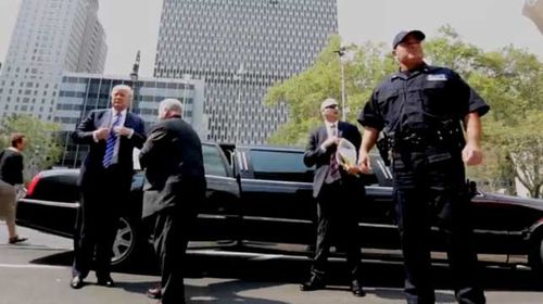 Trump reports for jury duty in New York