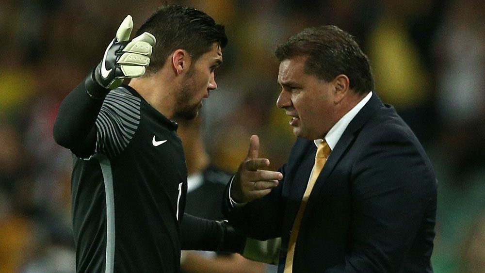 Socceroos goalkeeper Matthew Ryan wants Ange Postecoglou on board for World Cup