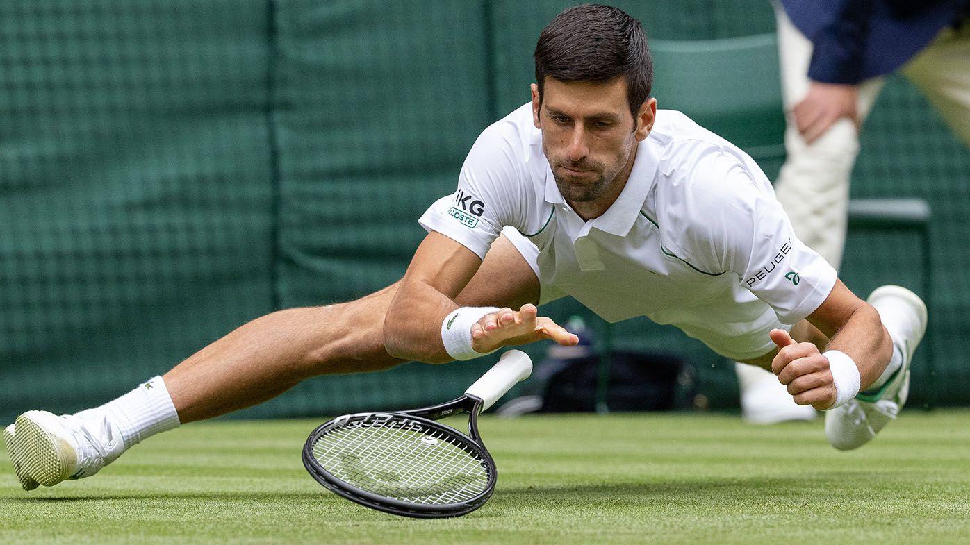 Wimbledon 2021: Novak Djokovic slips his way to straight sets win in second round