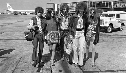 Jack Bruce (left) and member of rock band Cream taken in 1967. (AAP)