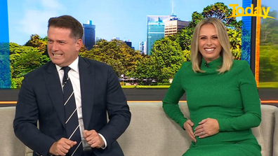 Karl Stefanovic faced the very real fear his sister-in-law was about to give birth on live TV.