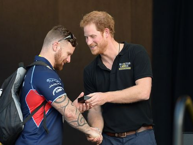 Harry and veteran at Invictus Games