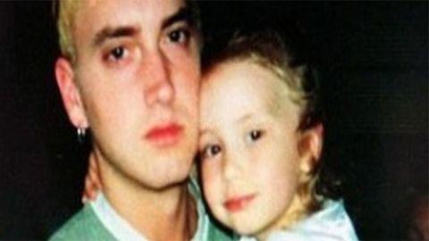 Eminem and daughter Hailie Jade Scott Mathers.