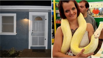 Laura Hurst was found dead with a 2.4 metre python wrapped around her neck on Wednesday.