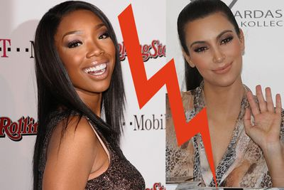 "Brandy was apparently livid that Kim would be joining her to film the flick, k <i>The Marriage Counsellor</i>. According to reports, the singer displayed some diva behavior on set by demanding that ""production people"" keep Kim away from her!"