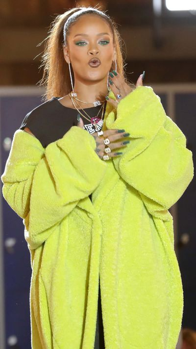 "Rihanna is not known for her restraint but the pop star-turned designer covered up on the runway for her latest Fenty x Puma collection, preferring to let models beare their breasts and push the underboob trend.<br /> ""I've never been in love with a collection more than this one,"" Rihanna said before the show, which left last season's <a href=""http://style.nine.com.au/2016/09/30/08/10/rihanna-fenty-puma-paris"" target=""_blank"" draggable=""false"">Marie Antoinette</a> aspirations behind and took the audience back to school with Fenty University offering inspiration. <br /> The venue was France's National Library in Paris where the reading tables were joined together to create a makeshift runway for the class of 2017. <br /> With a soundtrack of <em>I Fink You Freaky</em> by Die Antwoord and <em>Bad Girls</em> by M.I.A, Rihanna walked to applause in an over-sized green coat with a high ponytail and hoop earrings that could be seen from the back of the building.  <br /> Models dared to display more flesh with dangerously cropped tops in searing orange and candy stripes, and flared sleeves, hooded onesies and mustard bodysuits with an emphasis on cleavage.<br /> Corset style puffer jackets and teddy bear backpacks added to the good girls gone bad vibe. <br /> Unlike Kanye West's Yeezy collection, Rihanna's range for Fenty x Puma doesn't stray from sportswear offering accessibility without pretension and enough pop star punch to keep the crowd excited. <br /> <br />"
