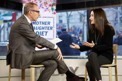 Weiss being questioned by former US TODAY host Matt Lauer on NBC.