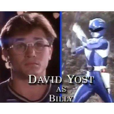 David Yost as Blue Ranger/Billy Cranston: Then