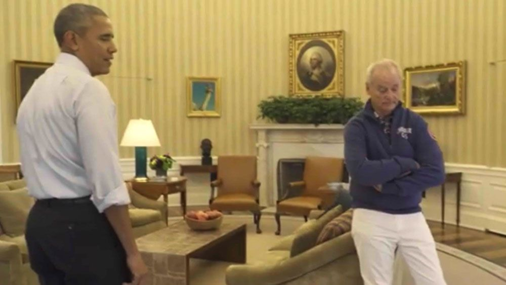 Obama and Murray talk golf, health and trash