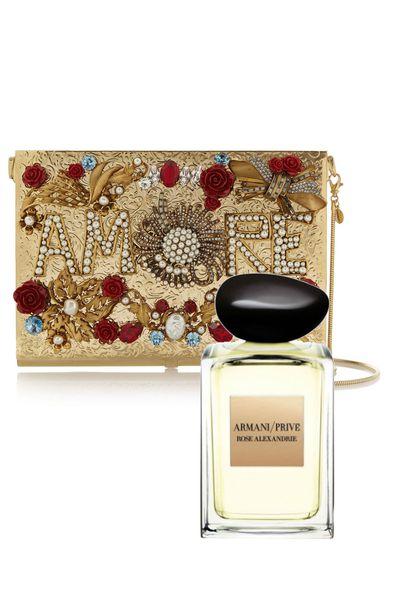 "<a href=""http://www.myer.com.au/shop/mystore/beauty/womens-fragrances/prive-rose-alexandrie-edt-100ml-133009210-133009840"" target=""_blank"">Rose Alexandre, $228 (100ml, EDT), Giorgio Armani Prive</a>"