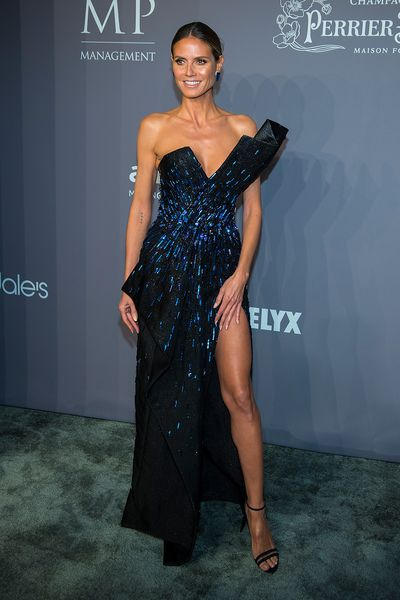 Heidi Klum in Zuhair Murad at the 20th Annual amfAR Gala