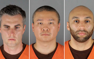 Bail set at $1m for three ex-officers charged in George Floyd's death
