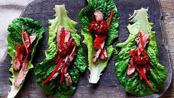 Dinner Ladies' Korean skirt steak with ginger-spring onion dipping sauce