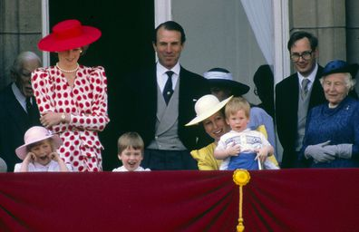 Prince Harry trooping the colour 1986