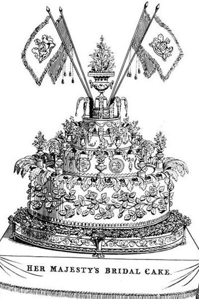 Queen Victoria and Prince Albert wedding cake in 1840