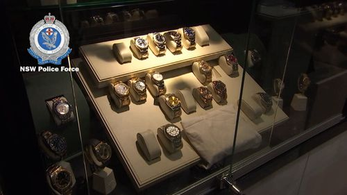 $3.5 million dollars worth of watches have been seized. Picture: NSW Police