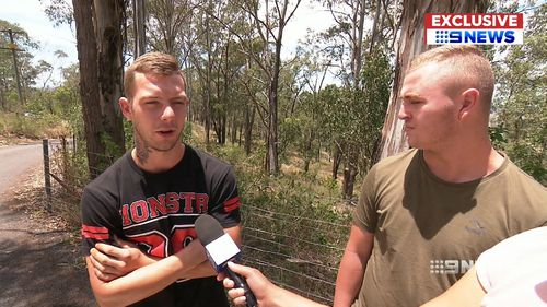 Cameron Herrick and Bayley Trosser came to the aid of the dying passenger. (9NEWS)