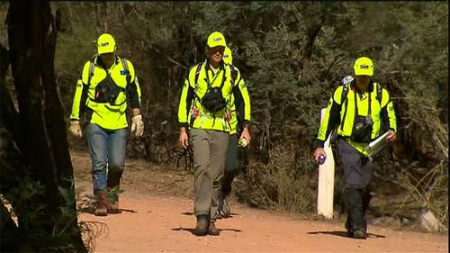 The bushland has been scoured for a third day after the boy went missing on the morning of Good Friday. (9NEWS)