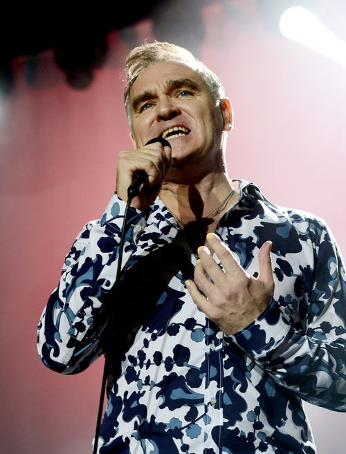 Singer Morrissey performs at Hollywood High School on March 2, 2013 in Los Angeles, California