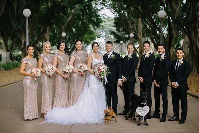 Jodie and Joss dog wedding cute photos