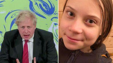 Boris Johnson, Greta Thunberg