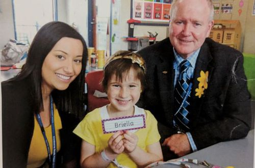 "Briella's school held a ""Briella Day"" where students and staff were encouraged to wear yellow when she transitioned."