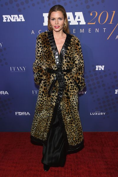 Stylist Elizabeth Sulcer in Attico at the FN Achievement Awards in New York.