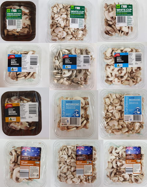 Prepackaged punnets of sliced mushrooms have been recalled from supermarket shelves across Australia. Picture: Supplied