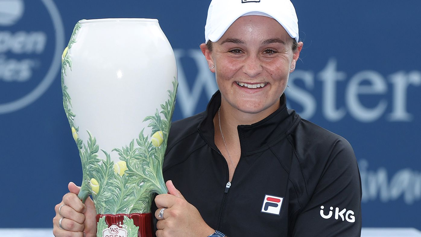 Ash Barty has claimed her fifth title of the year in Cincinnati.