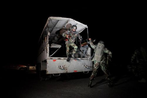 Military operation launched to rescue hostages.