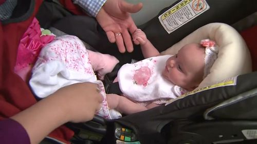 Baby girl 'born twice' due to US mother's pregnancy complications