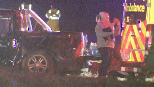 It's understood a baby was involved in the crash that took place - it's believed - during Dohnt's arrest. Picture: 9NEWS