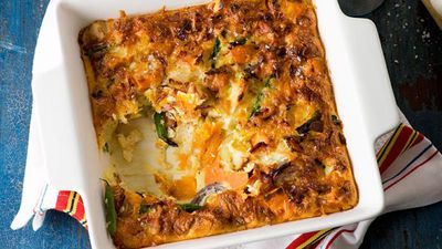 "Recipe:&nbsp;<a href=""http://kitchen.nine.com.au/2016/05/16/13/51/last-nights-vegetable-frittata"" target=""_top"">Last night's vegetable frittata</a>"