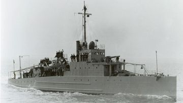 The USS Eagle 2 (PE-2), pictured, was the identical sister ship to the USS Eagle 56 (PE-56).