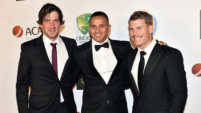 Aussie batsmen Joe Burns, Usman Khawaja and David Warner. (AAP)