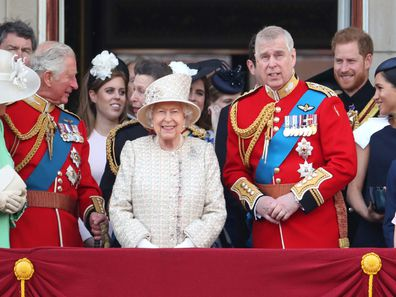 The Royal Family Trooping the Colour