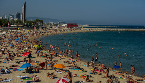 In Barcelona, it is illegal to wear swimwear away from the beach front.
