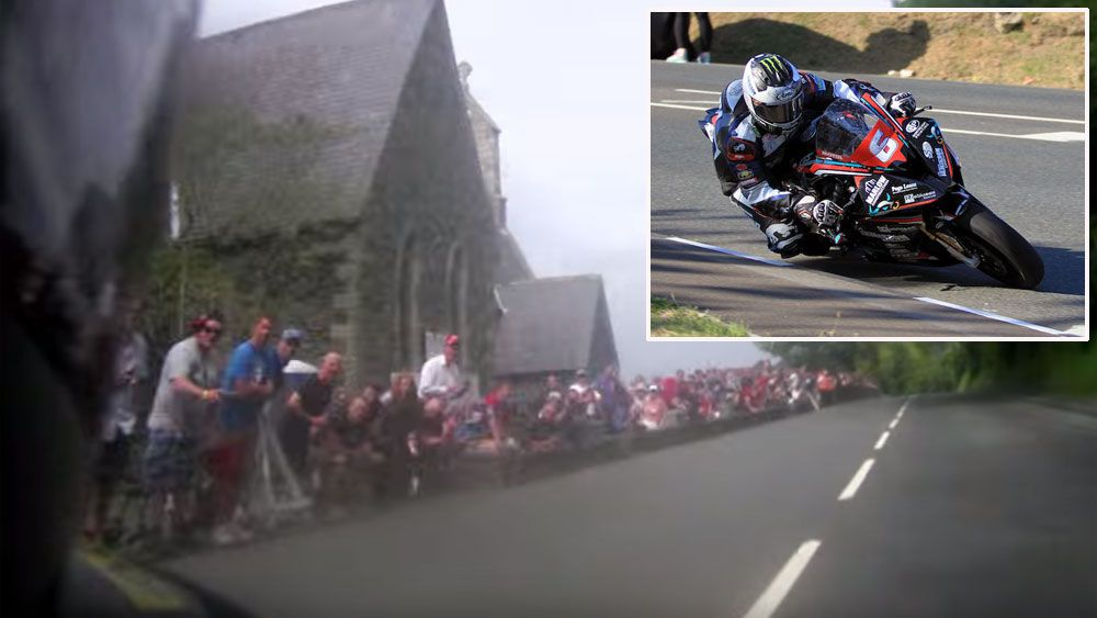 Motorcyclist sets Isle of Man record time